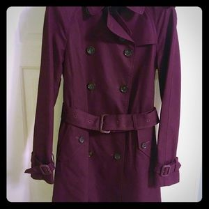 COACH Trench Coat - Burgundy color